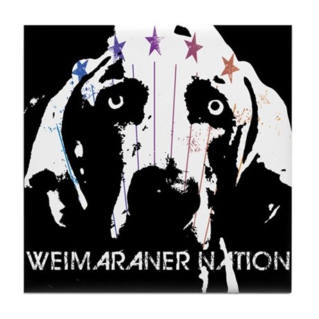 Weimaraner Nation Tile Coaster