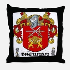 Brennan Coat of Arms Throw Pillow