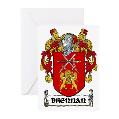Brennan Coat of Arms Greeting Cards (Pk of 10)