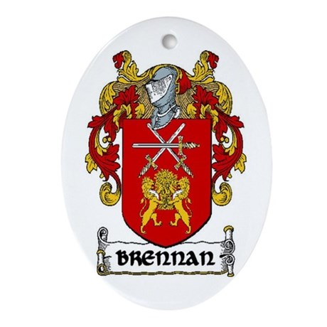 Brennan Coat of Arms Ornament (Oval)