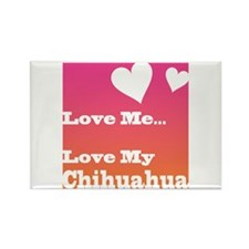 Love My Chihuahua Rectangle Magnet (10 pack)