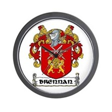 Brennan Coat of Arms Wall Clock