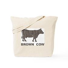 Vintage Brown Cow Tote Bag