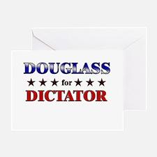 DOUGLASS for dictator Greeting Card