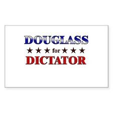 DOUGLASS for dictator Rectangle Decal