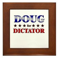 DOUG for dictator Framed Tile