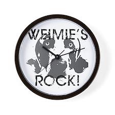 Weimie's Rock! Wall Clock