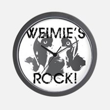 Weimie's Rock! Wall Clock