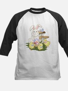EasterBunnyChicks-Transparent2 Baseball Jersey