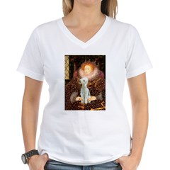 Queen / Bedlington T Women's V-Neck T-Shirt