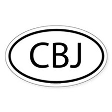 CBJ Oval Decal