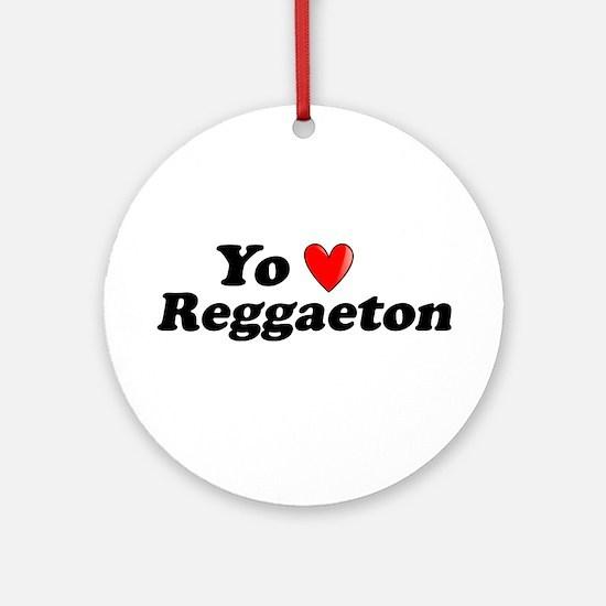 Yo Amo Reggaeton Ornament (Round)