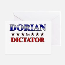 DORIAN for dictator Greeting Card