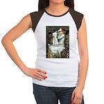 Ophelia / Bedlington T Women's Cap Sleeve T-Shirt