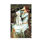 Ophelia / Bedlington T Sticker (Rectangle)