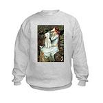 Ophelia / Bedlington T Kids Sweatshirt