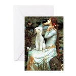 Ophelia / Bedlington T Greeting Cards (Pk of 20)