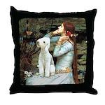 Ophelia / Bedlington T Throw Pillow