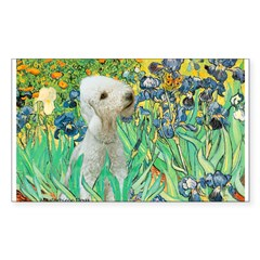 Irises /Bedlington T Sticker (Rectangle)