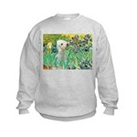 Irises /Bedlington T Kids Sweatshirt