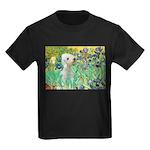 Irises /Bedlington T Kids Dark T-Shirt