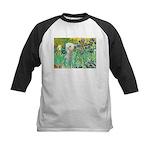 Irises /Bedlington T Kids Baseball Jersey