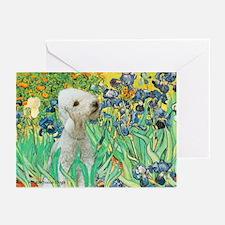 Irises /Bedlington T Greeting Cards (Pk of 20)