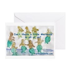 Little Mermaid in all of us Greeting Cards (Packag