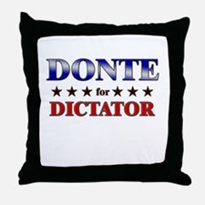 DONTE for dictator Throw Pillow
