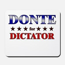 DONTE for dictator Mousepad