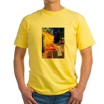 Cafe / Bedlington T Yellow T-Shirt
