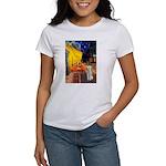 Cafe / Bedlington T Women's T-Shirt