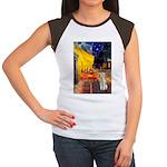 Cafe / Bedlington T Women's Cap Sleeve T-Shirt