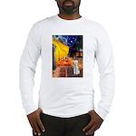 Cafe / Bedlington T Long Sleeve T-Shirt