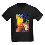 Cafe / Bedlington T Kids Dark T-Shirt