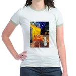 Cafe / Bedlington T Jr. Ringer T-Shirt