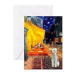Cafe / Bedlington T Greeting Cards (Pk of 20)