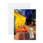 Cafe / Bedlington T Greeting Cards (Pk of 10)