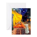 Cafe / Bedlington T Greeting Card