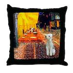 Cafe / Bedlington T Throw Pillow