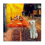 Cafe / Bedlington T Tile Coaster