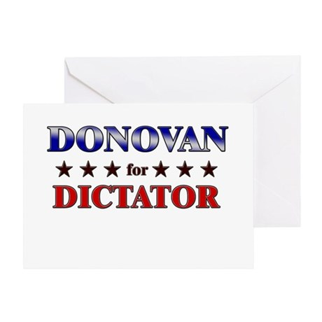DONOVAN for dictator Greeting Card
