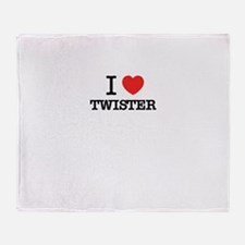 I Love TWISTER Throw Blanket