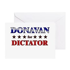 DONAVAN for dictator Greeting Card