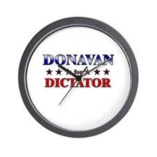 DONAVAN for dictator Wall Clock