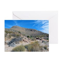 Robledo Mountains: Indian Spr Greeting Card