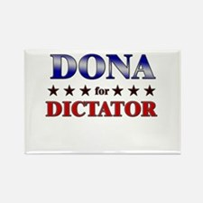 DONA for dictator Rectangle Magnet