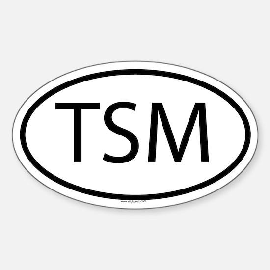 TSM Oval Decal