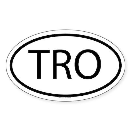 TRO Oval Sticker