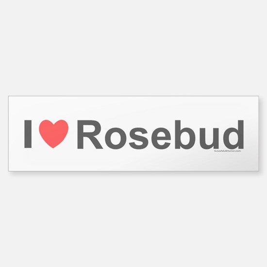 Rosebud Sticker (Bumper)